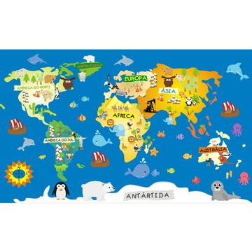 Adesivo Mapa Infantil De Parede M79