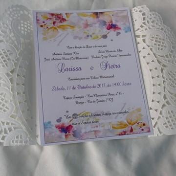 Convite de Casamento Lilás Bella