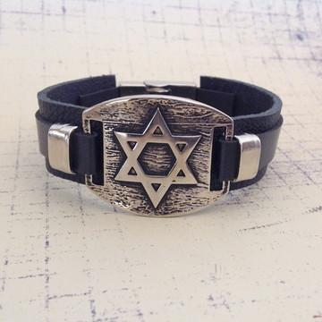 Pulseira Estrela de Davi - Prata