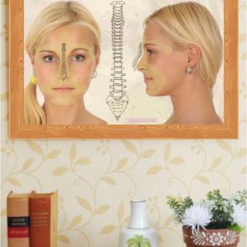 Poster mapa representação reflexa facial