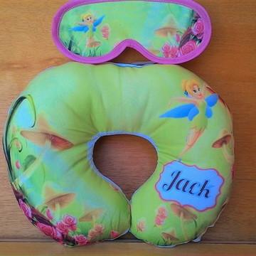 Kit Viagem: Almofada de pescoço + máscara de dormir
