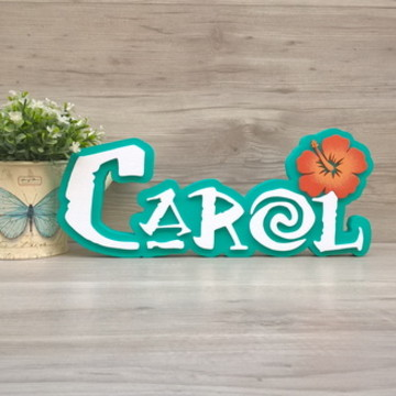 Nome de Mesa Tema MOANA - Carol 12 cm