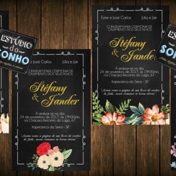 Convite de casamento- ARTE DIGITAL