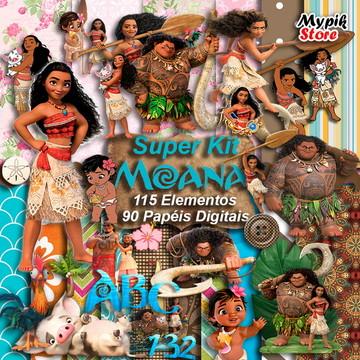 Super Kit Digital Moana Scrapbook