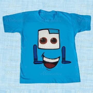 Camiseta divertida Carros e amigos Guido