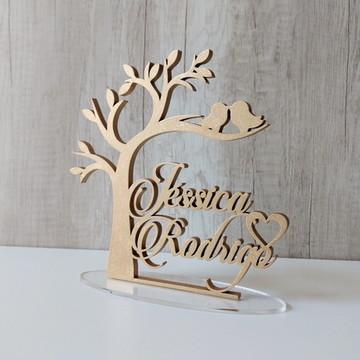 topo bolo casamento criativo dourado