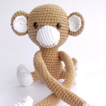 Macaco Amigurumi para cortina