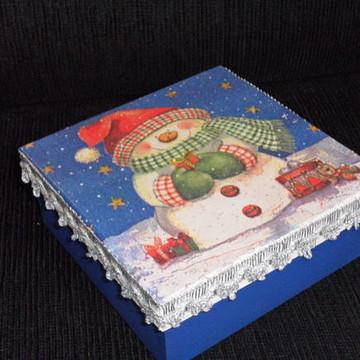 caixa em mdf com decoupagem (vendido)