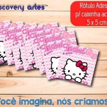 Rótulo Adesivo Caixinha Hello Kitty