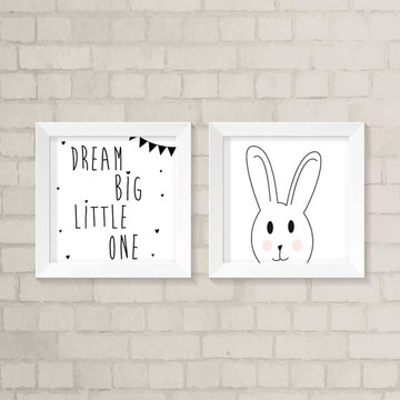 Kit Quadros Infantil - Dream Big Little One