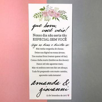 Menu Casamento Dicas Floral