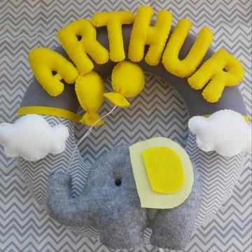 Enfeite Porta Maternidade Elefantinho ci