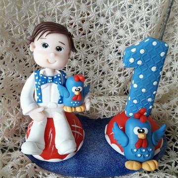 topo galinha pintadinha menino biscuit
