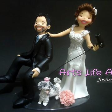 Topo de Bolo para Casamento Personalizado