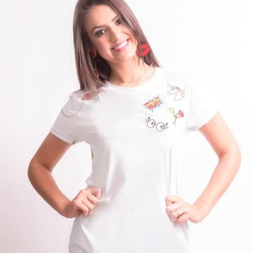 T-shirt: Camiseta Feminina Patches