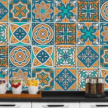Adesivo de Azulejo 15x15 - Marrocos (Laminado)