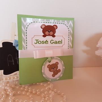 Convite chá de bebê urso