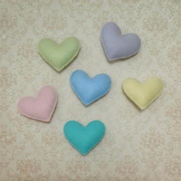 Coração de Feltro pequeno 5cm x 4,5cm
