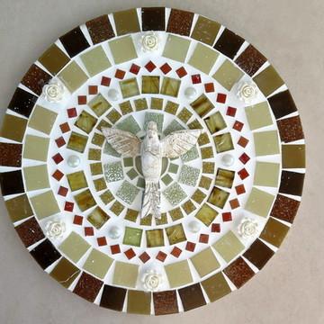 Mandala Divino Espírito Santo Bege 25