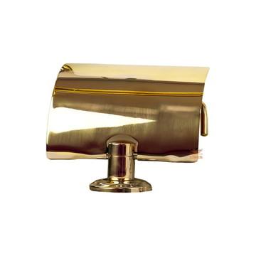 Papeleira Dourada Luxo Para Banheiro