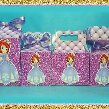 Kit de caixinhas Princesa Sofia 110 itens