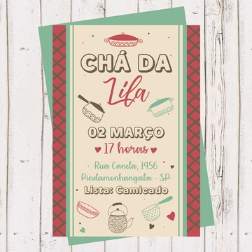 Convite Chá Panela, Noiva, Casa Nova 1