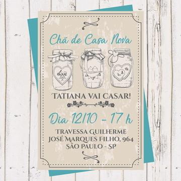 Convite Chá Panela, Cozinha, Casa Nova 3