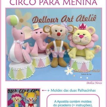 Moldes Circo de Menina