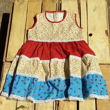Vestido Ciranda Menina Peça Exclusiva Infantil