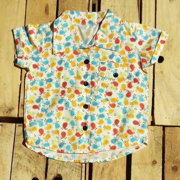 Camisa Infantil Pintinhos Meninos