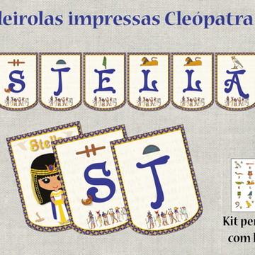 Bandeirolas impressas Egito CLEÓPATRA