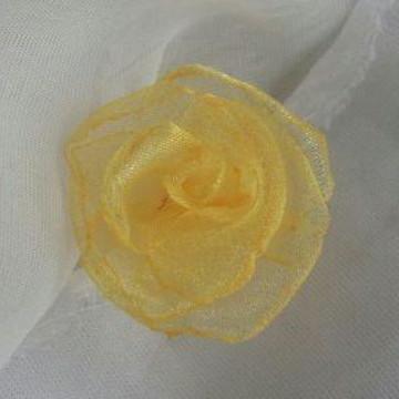Flor de Organza Cristal- 3cm
