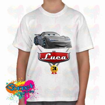 Camisa infantil personalizada Carros
