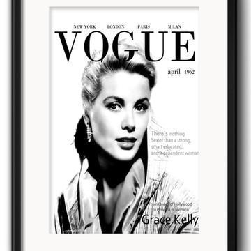Quadro Vogue Grace Kelly Decoração com Paspatur