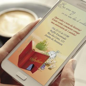 Convite Digital Aventura - whatsapp