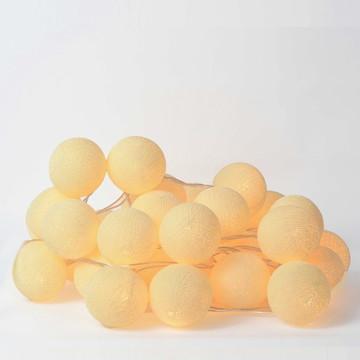 Fio de luz 35 bolas Creme