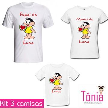 Kit Camisas Pai, mãe e filha - Magal