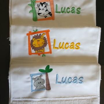 Kit toalha escolar lavabo mão infantil 3 Toalhas