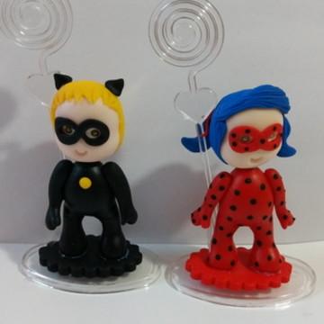 Lembrancinhas lady bug e cat noir biscui