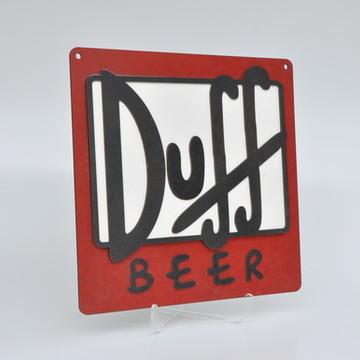 """Placa Em Alto Relevo """"Duff"""" em MDF"""