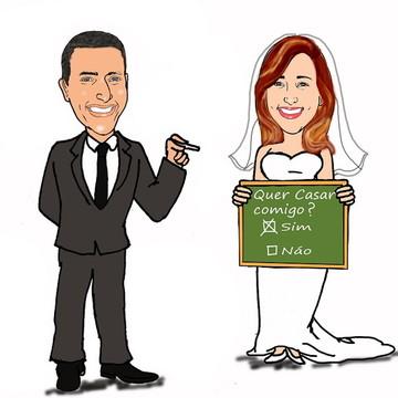 Caricatura Personalizada Noivos Casamento