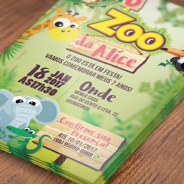 Convite Zoo da Zu (arte digital)