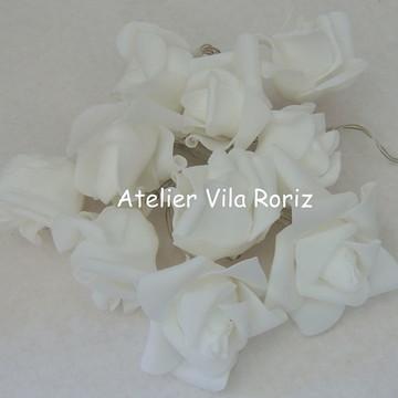 Cordão de Luz Flores Brancas!!