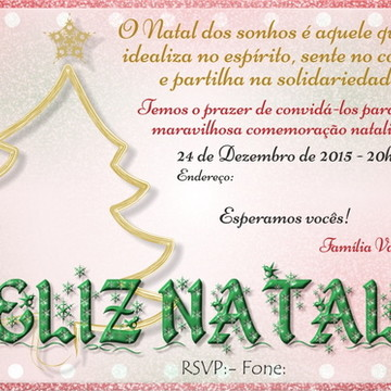 Convite Ceia de Natal Digital