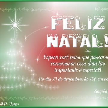 Convite Ceia de Natal - 15 unid.