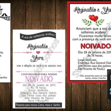 Convite de noivado - ARTE DIGITAL