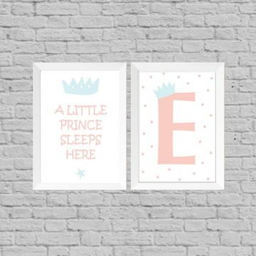 Kit quadro infantil little prince sleep