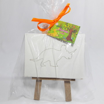 Kit Cavalete,Tela Personalizada - SEM TINTAS - Dinossauros I