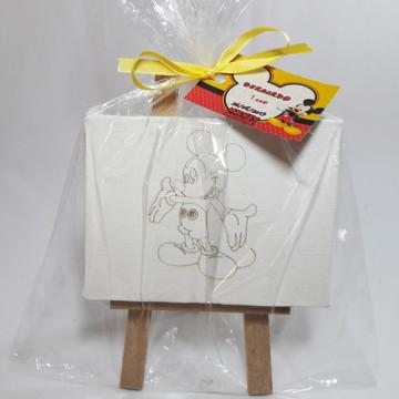 Kit Cavalete + Tela Personalizada - SEM TINTAS - Mickey