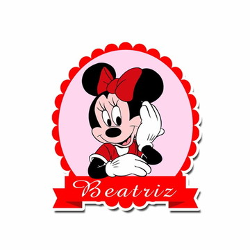 Festa Minnie - Placa